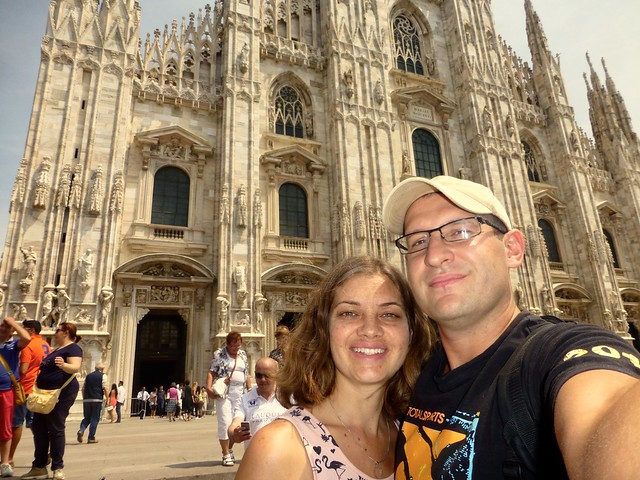 In front of the Duomo