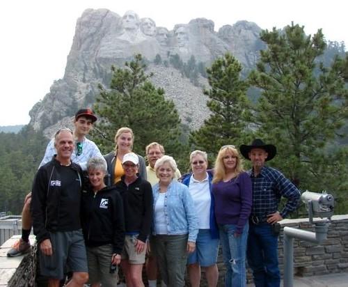 Browns and Nadens at Mt. Rushmore