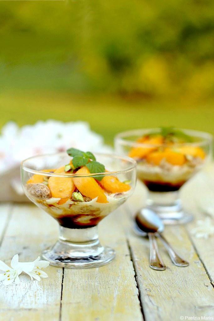 Pesche caramellate con gelato - Patrizia
