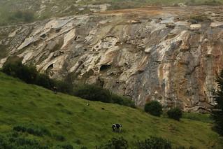 Mineral cliffs, Salinas, Ecuador