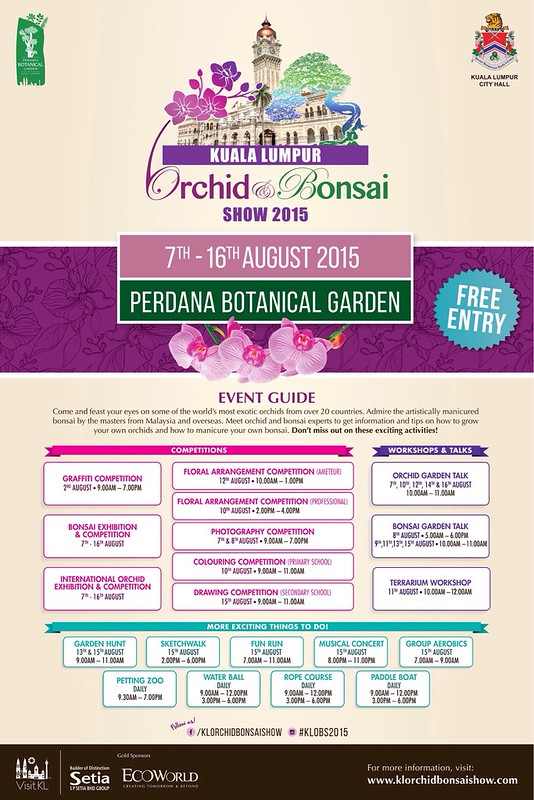 Kuala Lumpur Orchid and Bonsai Show 2015 di Taman Botani Perdana