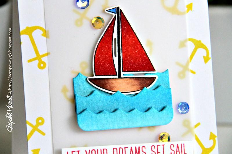 Let your dreams set sail closeup