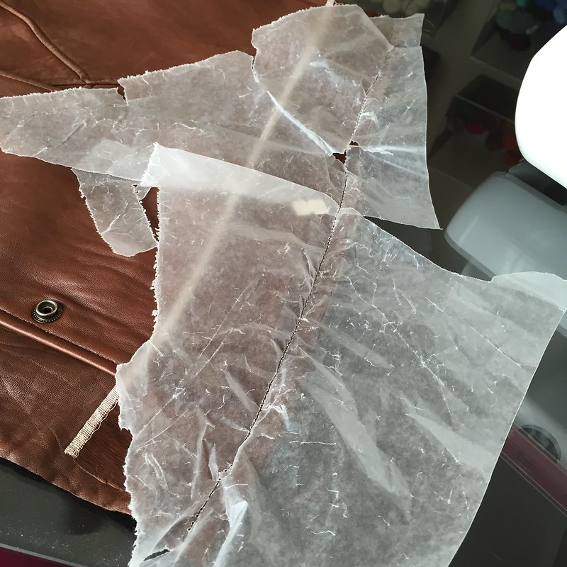 Recycled Leather Fold-Over Bag - In Progress