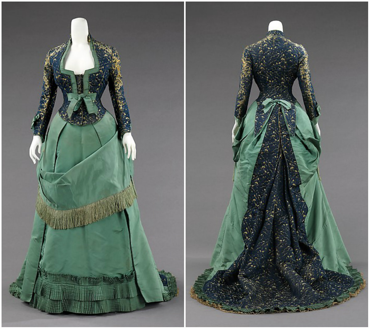 1875. Afternoon Dress. Silk. metmuseum