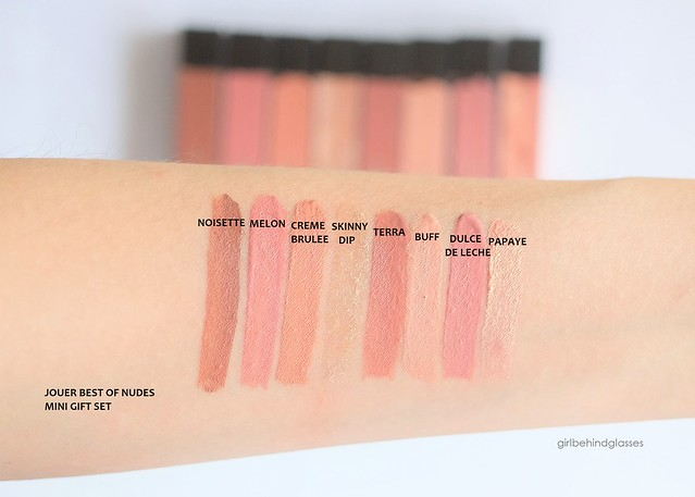 Jouer Best of Nudes Mini Gift Set swatches