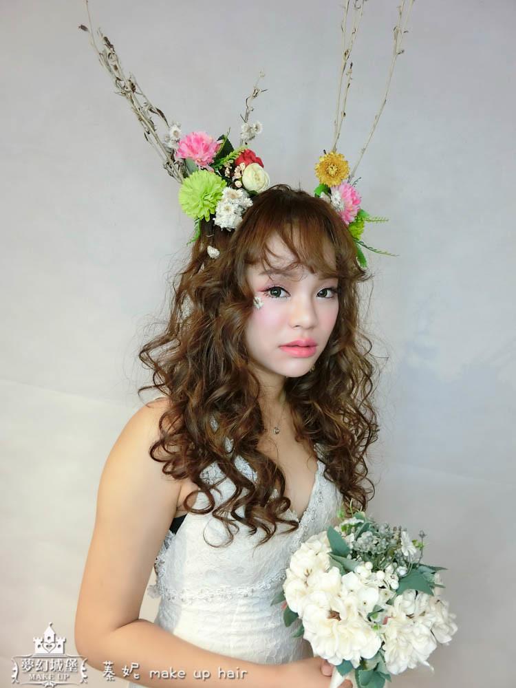 【新秘蓁妮】新娘造型創作 / 聖誕花漾麋鹿