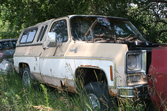 Abandoned Early Square Body  Chevrolet K-10 Short Bed Pickup Truck