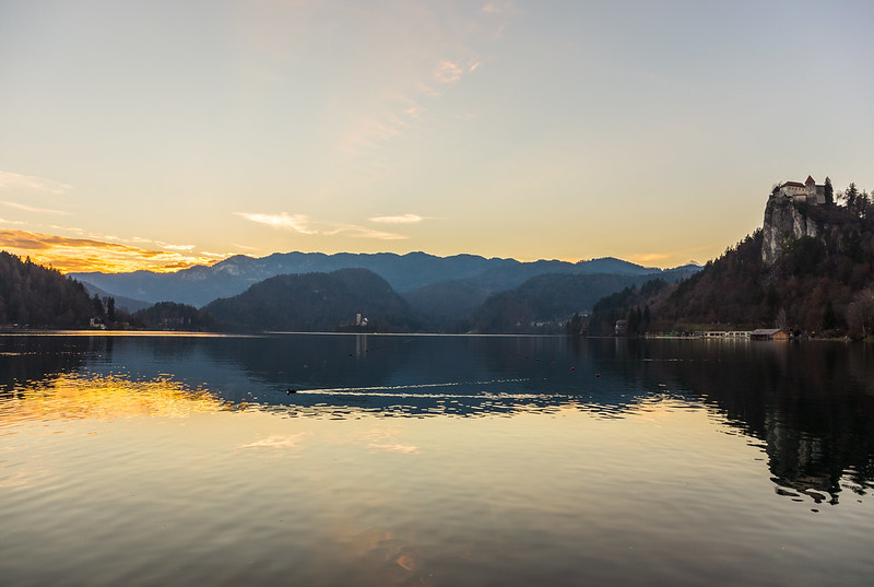 Sunset Over Lake Bled...