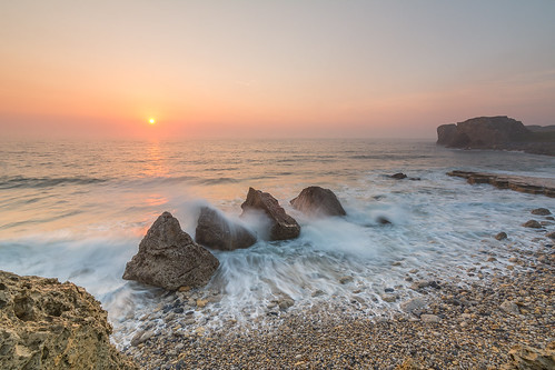 uk longexposure sea mist seascape water sunrise landscape coast seaside rocks waves wideangle coastal le northsea coastline northeast southshields daybreak trowpoint ukbeaches d7100 cokingndfilter tokina1116 nikond7100