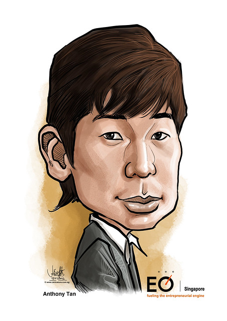 Anthony Tan digital caricature for EO Singapore