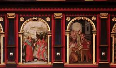 Rinteln, Niedersachsen, Nikolaikirche, balcony, north, painted panels