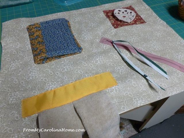 Alzheimer's Fidget quilt 24