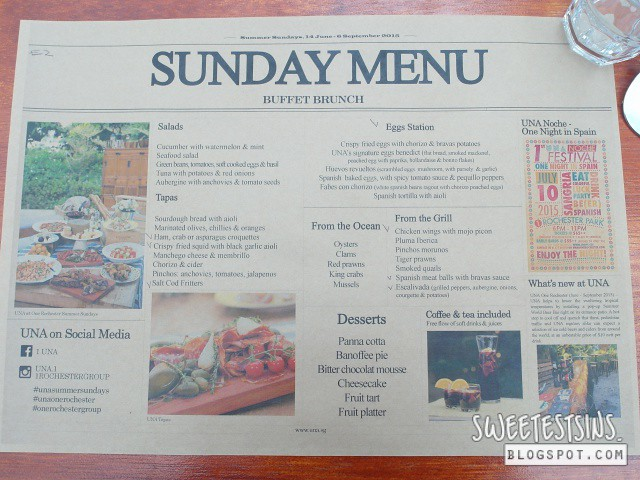 una brunch menu