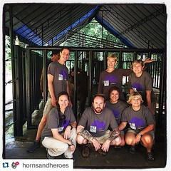 #Repost @hornsandheroes IRF Executive Director Dr. Susie Ellis is in Indonesia right now with our 2015 Bowling For Rhinos winners. They are visiting the Sumatran Rhino Sanctuary in Way Kambas National Park. #irf #hornsandheroesproject #srs #rhinos #rhinop