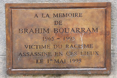 Photo of Brahim Bouarram brown plaque