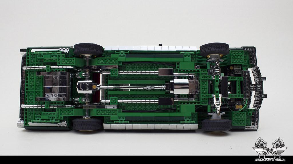 Lego 1/10 scaled Cadillac Fleetwood Lowrider underside