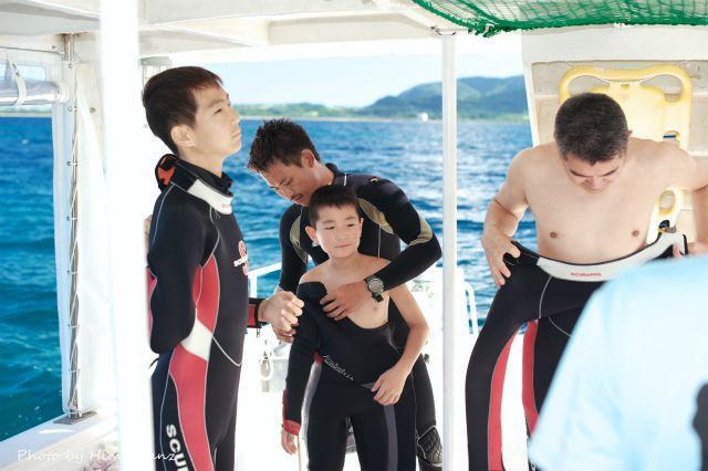 1年越しの体験ダイビングにワクワクが止まらない男性陣w