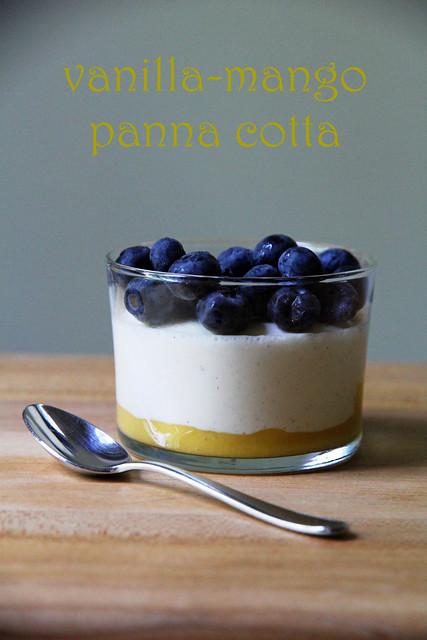 vanilla-mango panna cotta