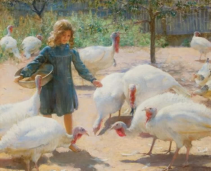 White turkeys by Charles Courtney Curran, 1899