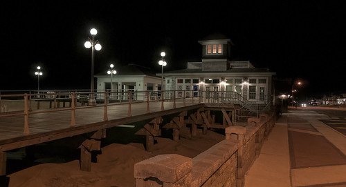 Ocean Ave. and the boardwalk in winter