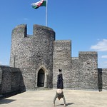 Handstands at Caerphilly Castle