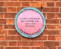 Photo of James Emerson Reynolds purple plaque