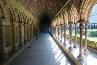 Covered walkway in the cloister