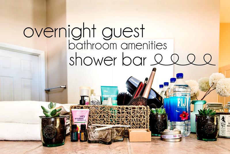 overnight guest bathroom amenities shower bar #zepsocialstars