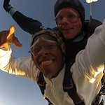 Skydiving at sunset - nothing better!