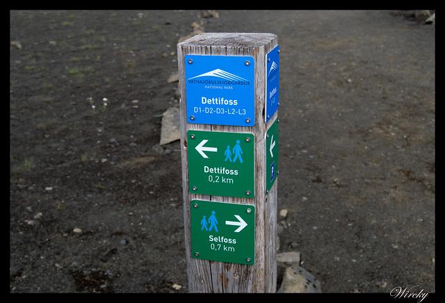 Indicaciones de Cascada Selfoss y Dettifoss