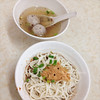 Peanuts powder noodles, Meat ball soup