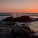 Stony beach sunset, Cae Du, Wales. UK. by jenny_dignam