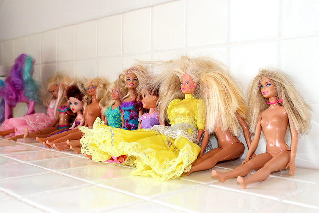 Barbie antiklit haar