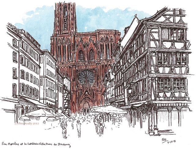 Rue Merciere and Strasbourg Cathedral