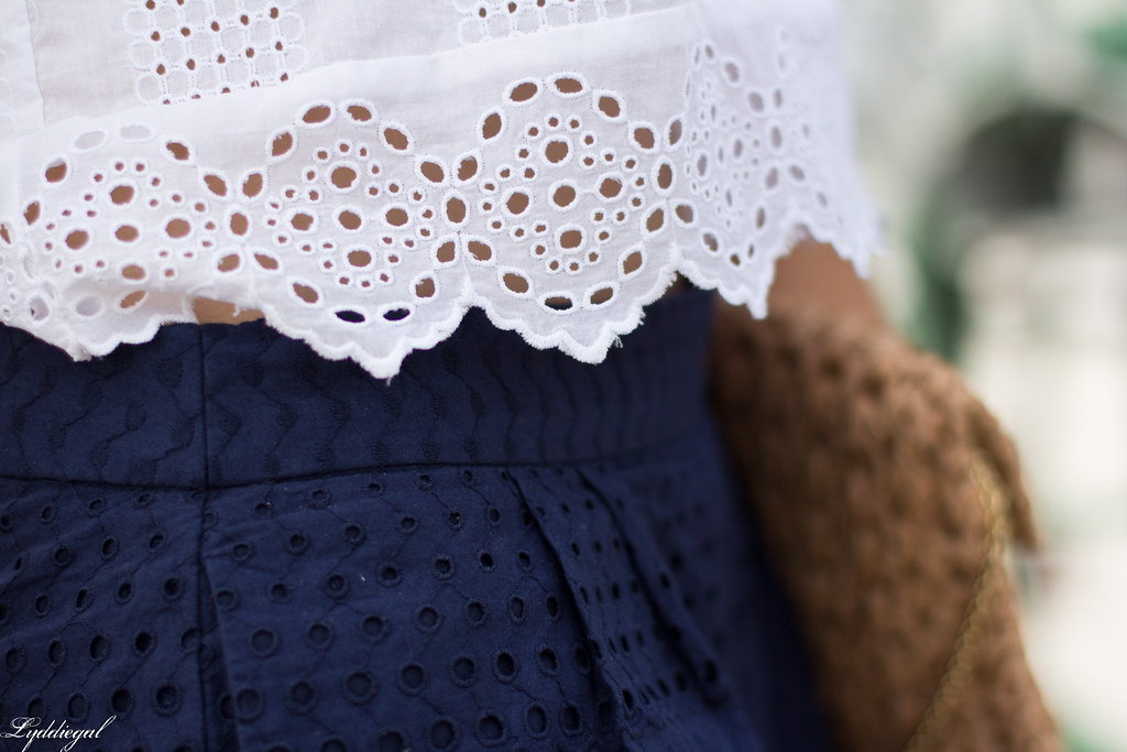 eyelet lace crop top and shorts, straw bag, white sandals-12.jpg