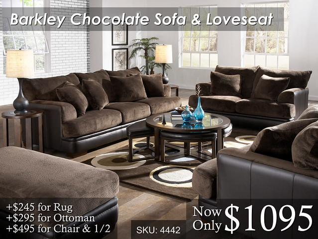 Barkley Chocolate Sofa & Love