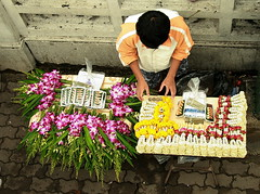 flower seller's display