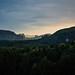 sächsische Schweiz am Abend