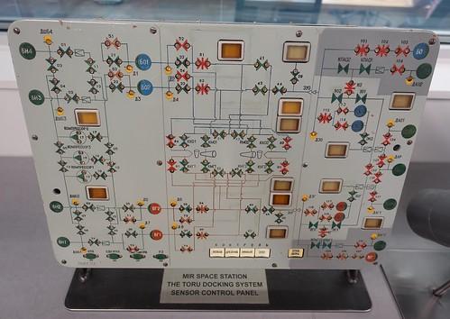 MIR Space Station Toru Docking Sensor Control Panel