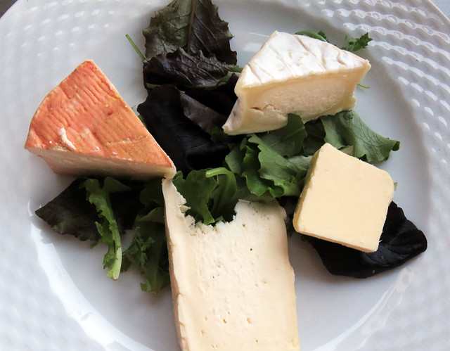 My 'Cheese Plate'  at a quai restaurant in Amiens, France