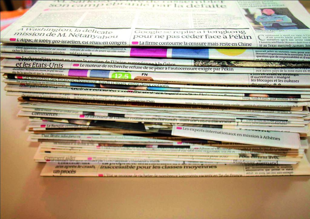 Pile de journaux français