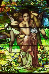 fairy, mythology, glass, fictional character, stained glass,