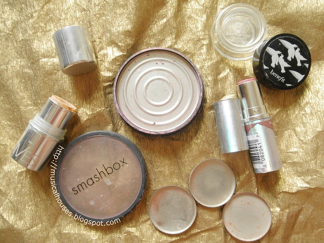 Empties Makeup Smashbox Stila Covergirl Benefit Prescriptives