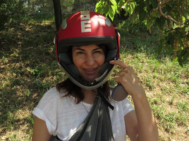 Maite en moto; Barcelona, España (2015)
