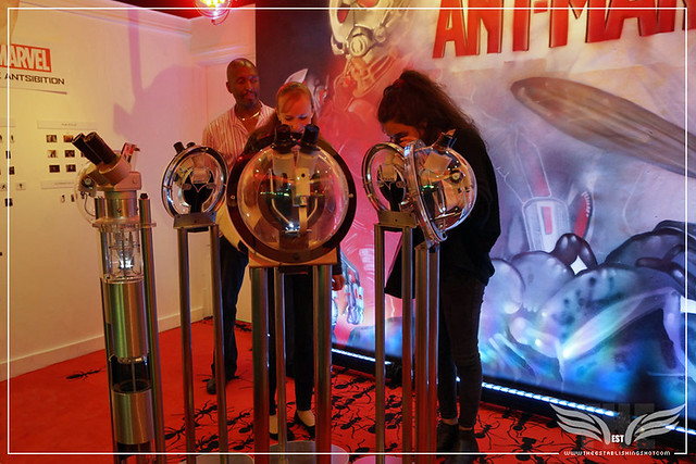 The Establishing Shot: MARVEL UK PRESENTS 'THE ANTSIBITION' WILLARD WIGAN MICRO ART ANT-MAN EXHIBITION - GUESTS VIEWING MICRO ART SCULPTURES @ OLD STREET TUBE STATION POP UP GALLERY, LONDON