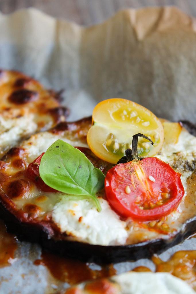 recette de pizza d'aubergine