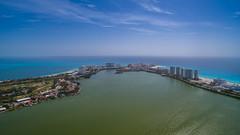 Luftbild von Cancun, Mexiko