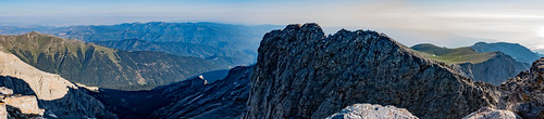 panorama mountain rocks olympus greece olympos mytikas