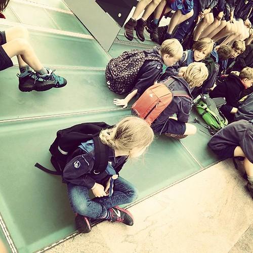 En toen ging ze ook met de trein naar Brussel. En verder. #fosdereiger