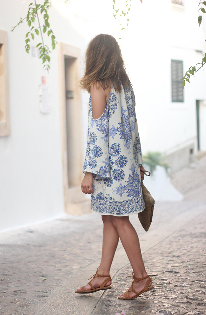 Summer White And Blue Dress Ibiza03